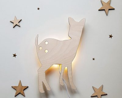 drewniana lampka dla dzieci