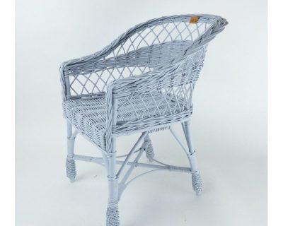 wiklinowe krzesełko dla dzieci w kolorze szarym