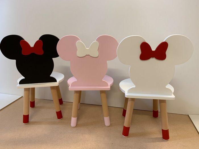 krzesełko dziecięce o kształcie myszki minnie
