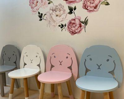 krzesełko zajączek do pokoju dziecka