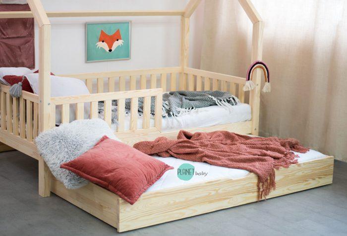 łóżko domek - szuflada z funkcją spania