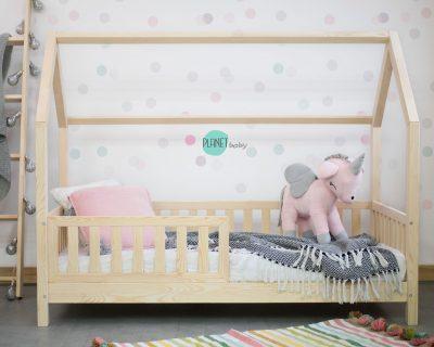 łóżko domek z barierką płotek