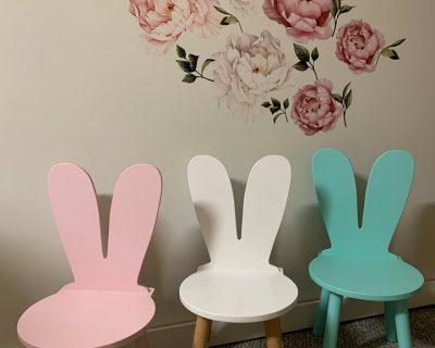 krzesełko dziecięce uszy królika