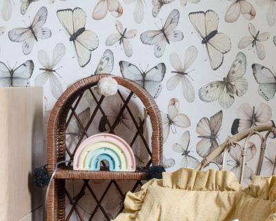 tapeta motyle do pokoju dziecka