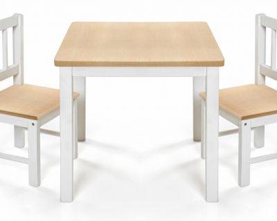 drewniant stolik i krzesełka dla dzieci