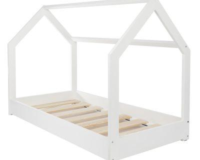 łóżko domek kolor biały