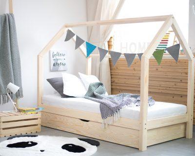 łóżko domk bez barierek
