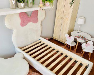 łóżko dla dzieci w kształcie myszki